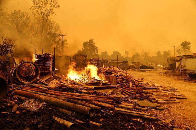 Сгорели несколько домов.