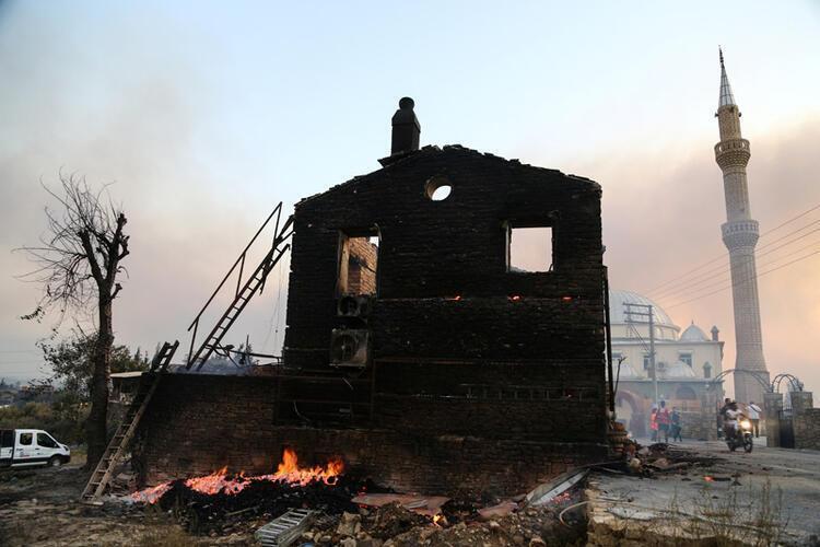 Последствия лесных пожаров в Турции.