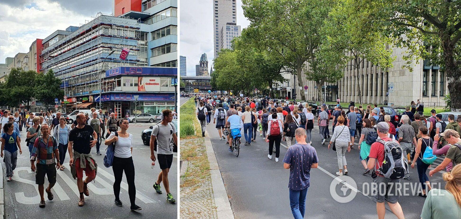 Акція протесту в Берліні