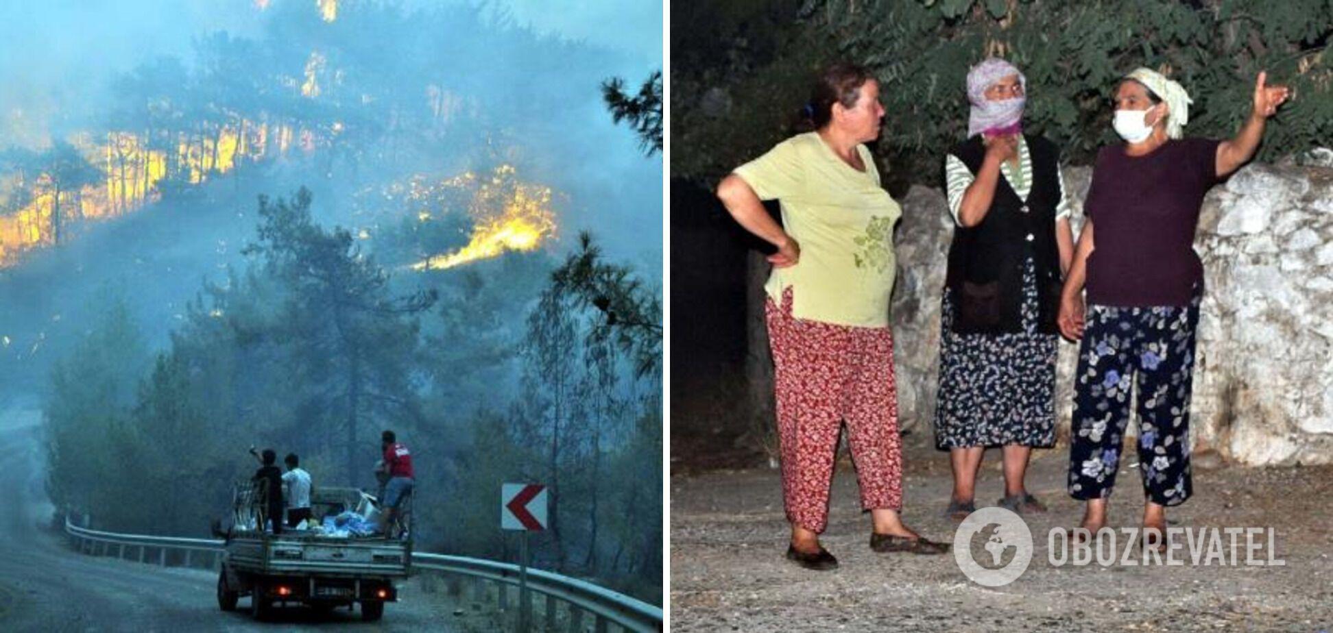Пожар в деревне Бейджилер.