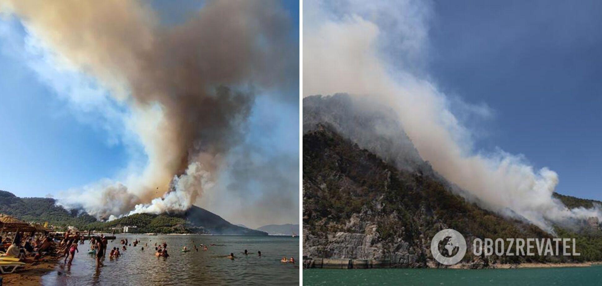 Огонь приблизился к курортным городам.