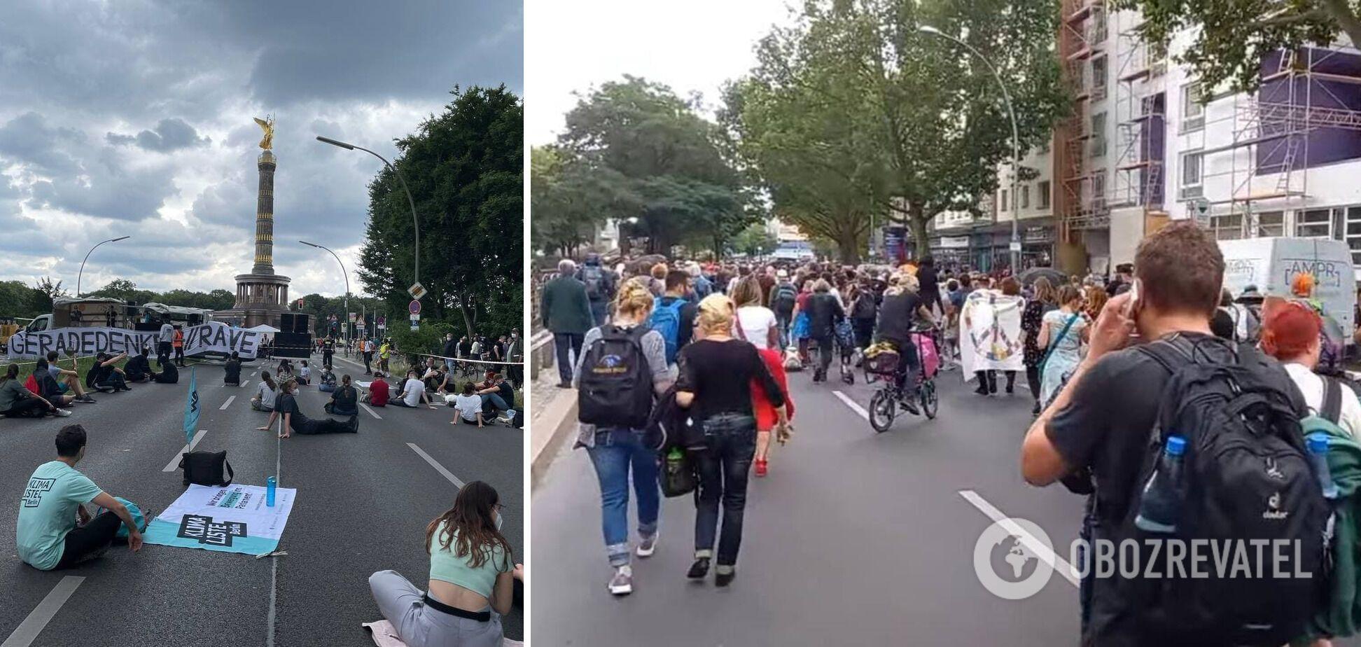 Демонстрації на вулиці 17 червня в Берліні