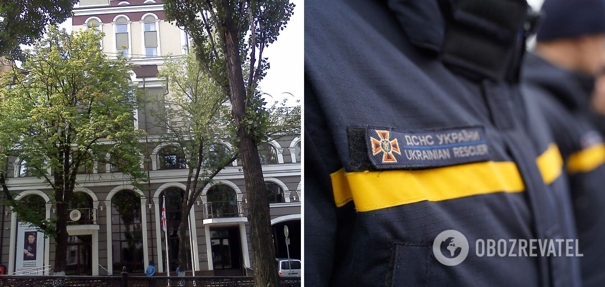 Неизвестные подожгли служебный автомобиль посольства Грузии в Украине: спасатели ликвидировали огонь