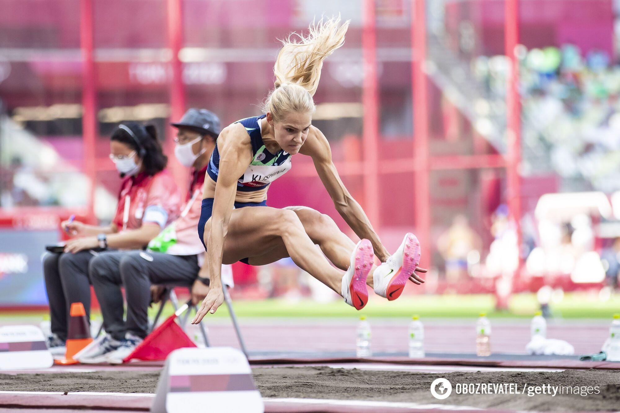 Дарья Клишина специализируется на прыжках в длину