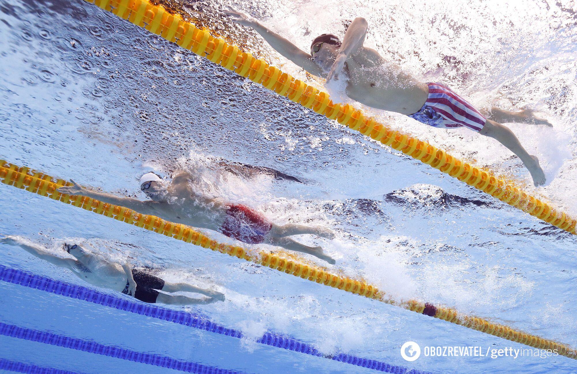 Заплыв на 1500 метров в Токио.