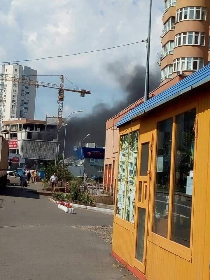 Пожежу було видно здалеку.
