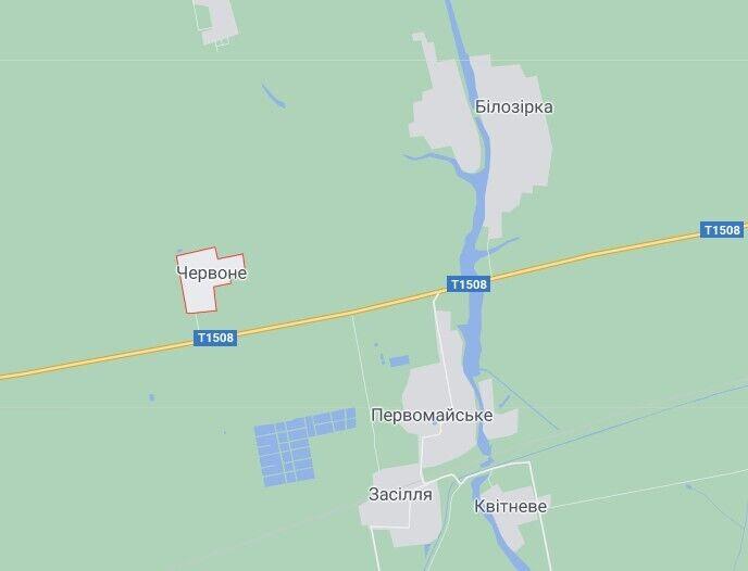 Аварія трапилася в селі Червоне