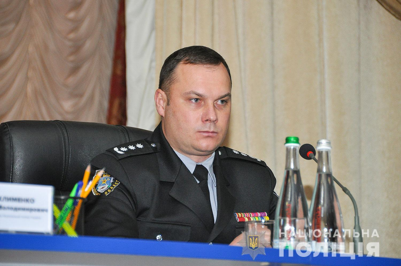 Вигівський під час офіційного представлення як голови поліції Полтавської області