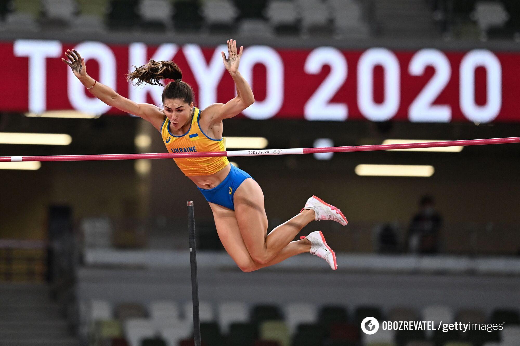 Марина Килипко на змаганнях в Токіо