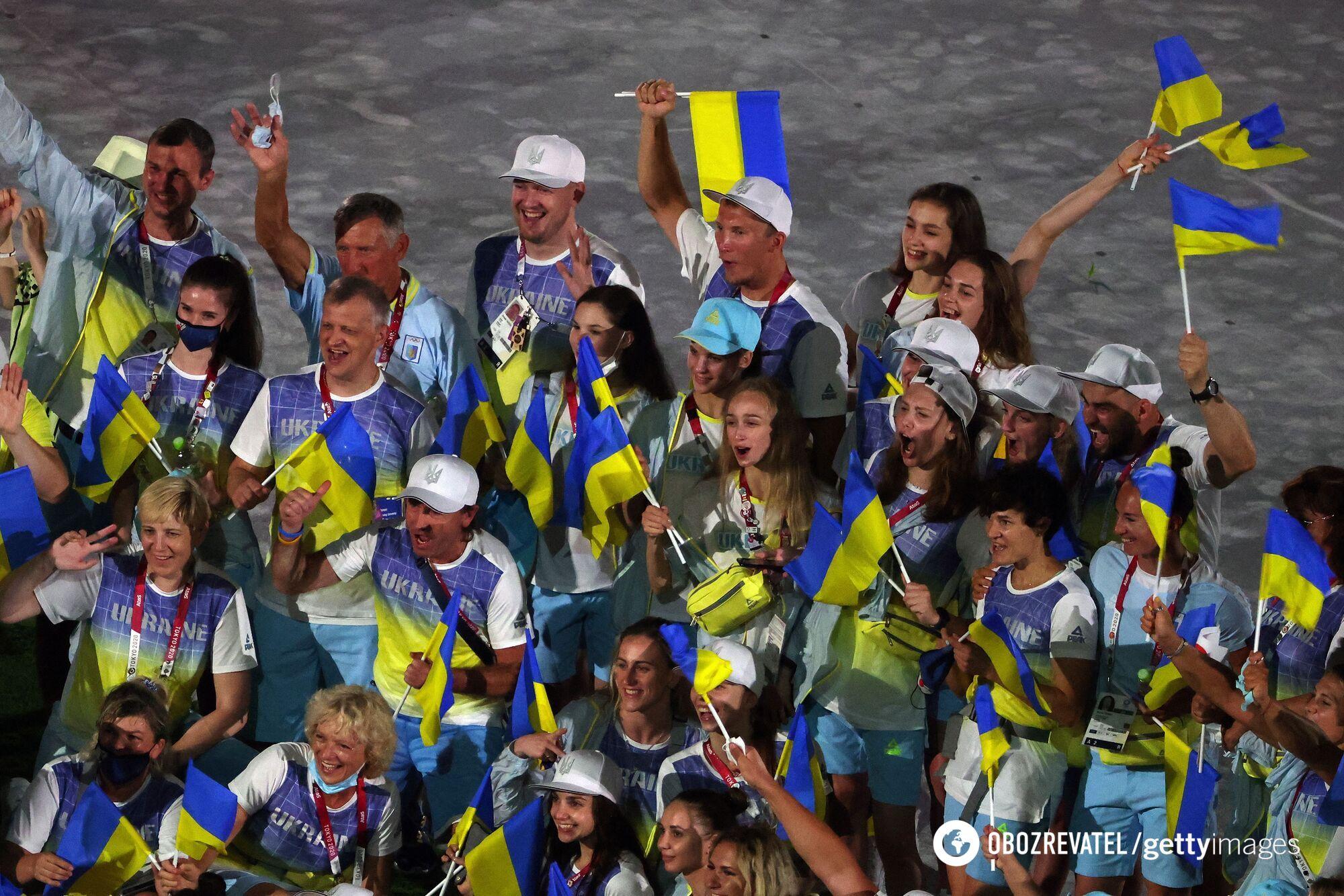 Збірна України на церемонії закриття Олімпіади-2020