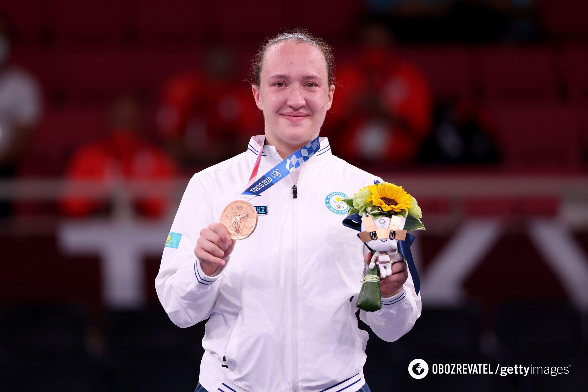 Ірина Зарецька з медаллю