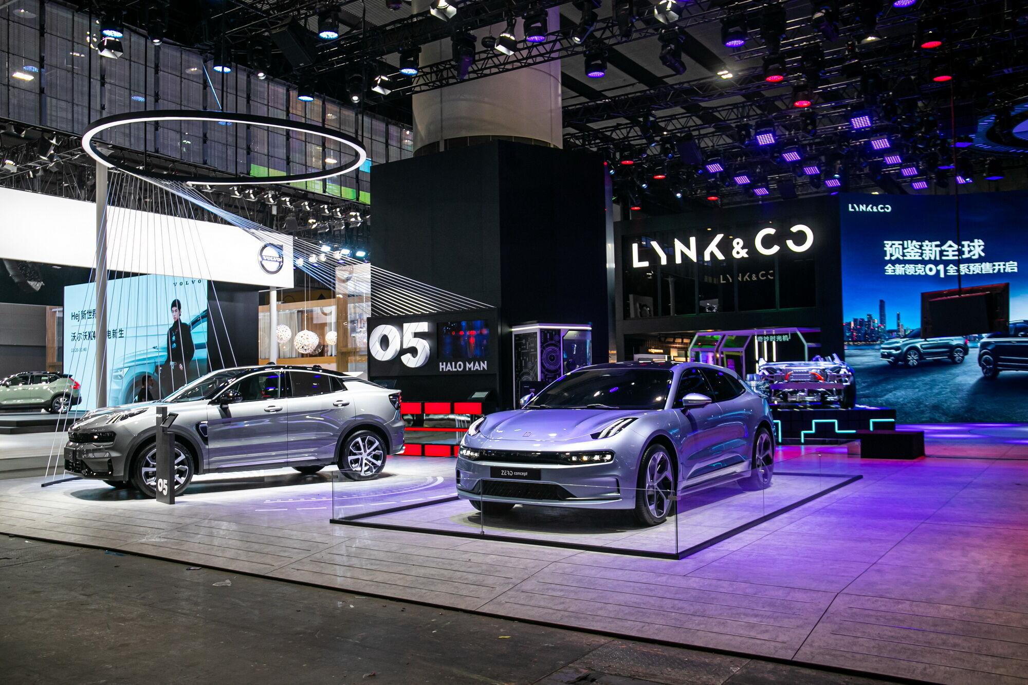 Экспозиция Lynk & Co на автошоу в Китае
