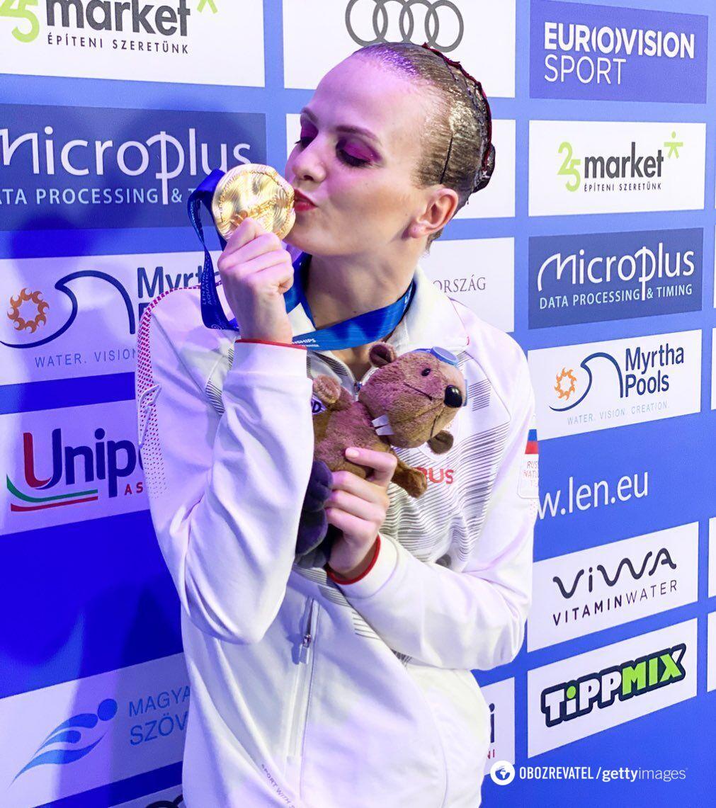 Марина Голядкина з медаллю
