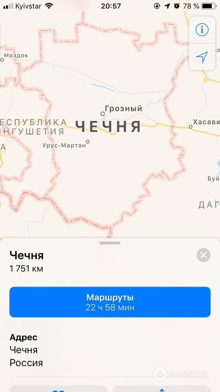 Чечня на картах