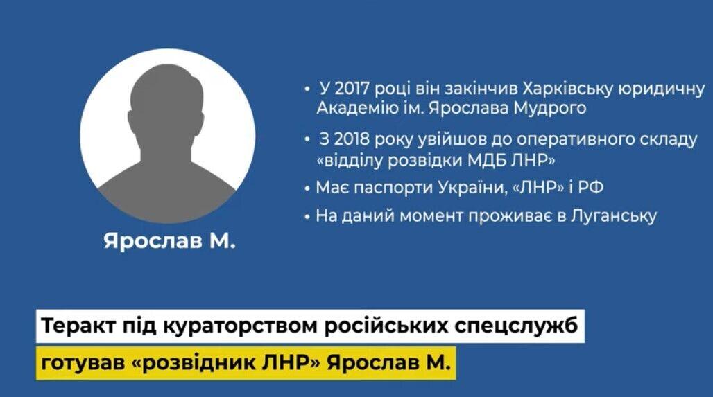 Теракт за завданням спецслужб РФ готував житель Сєвєродонецька Ярослав М.