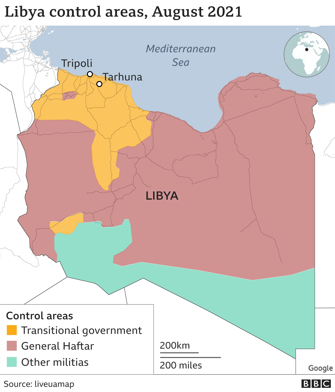 Лівія на мапі