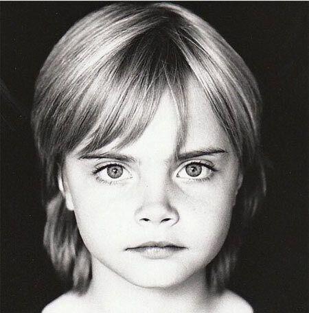 Як виглядала Делевінь у дитинстві