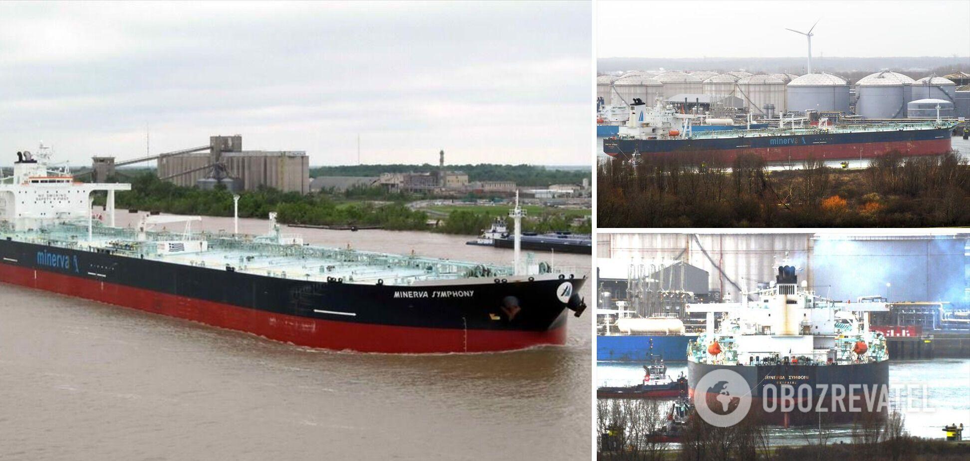 Нефть разлилась во время закачки на танкер Minerva Symphony