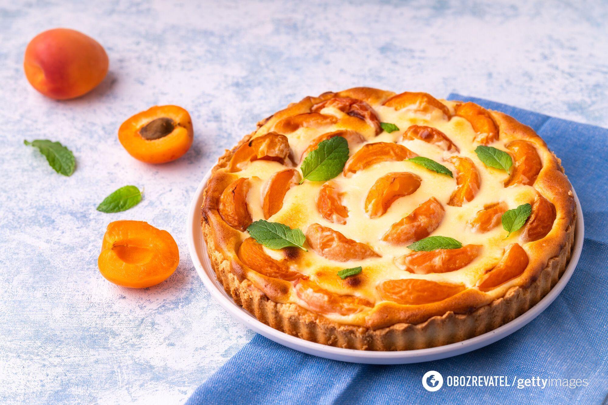 Как дома вкусно приготовить пирог с абрикосами