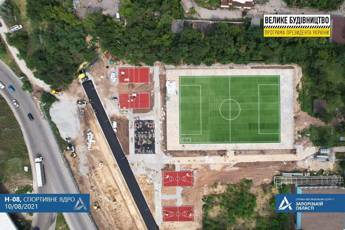 Возле академии появится спортзона с полем для футбола