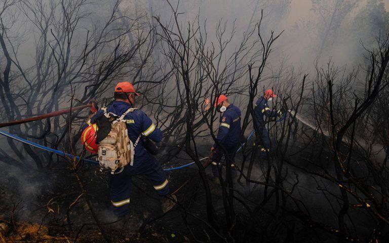 Пожарные девятый день тушат огонь.