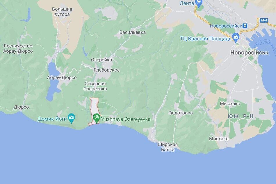 ЧП произошло вблизи села Южная Озеревка, Краснодарський край РФ