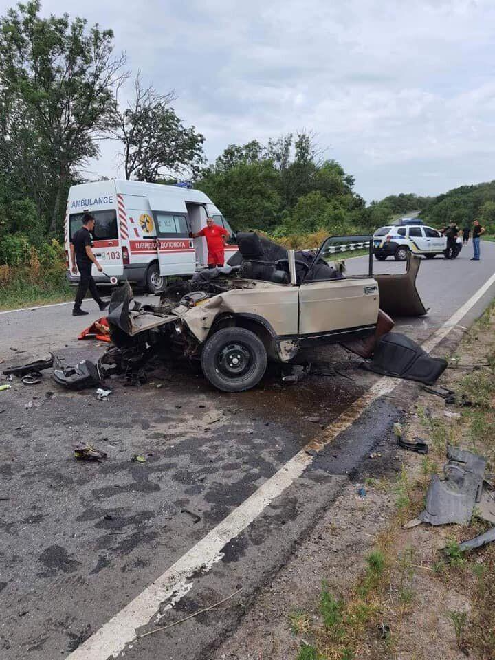 Місце аварії біля Сватового