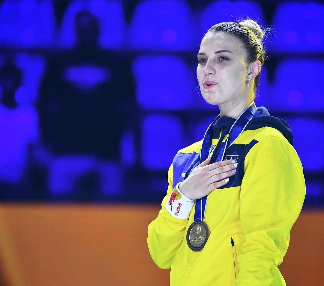 Ольга Харлан на змаганнях.