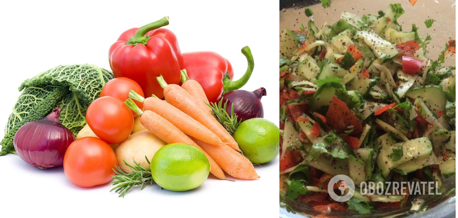Овочевий салат із маком