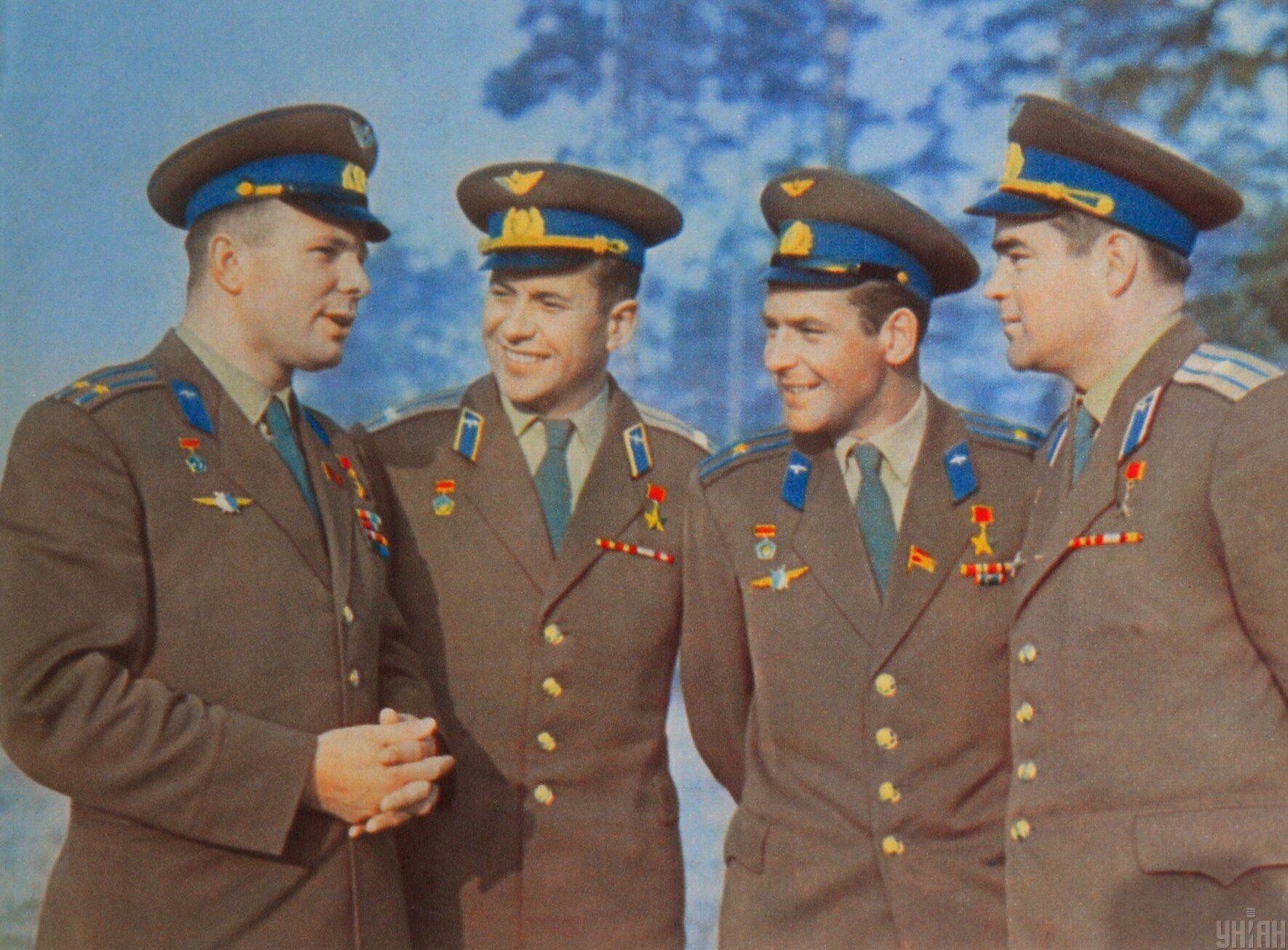 Юрий Гагарин, Павел Попович, Герман Титов, Андриан Николаев. Апрель 1963 года