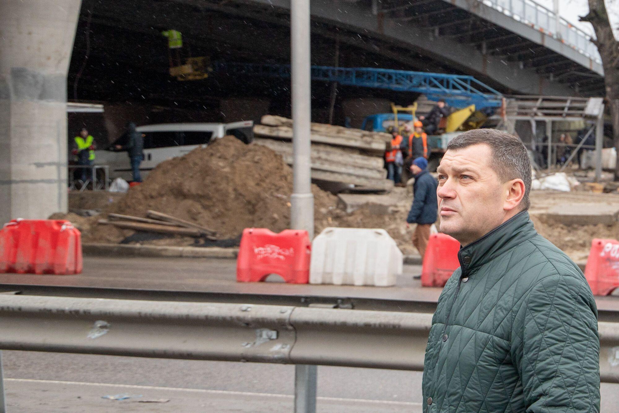 В КГГА надеются закончить реконструкцию Шулявского путепровода до лета 2022