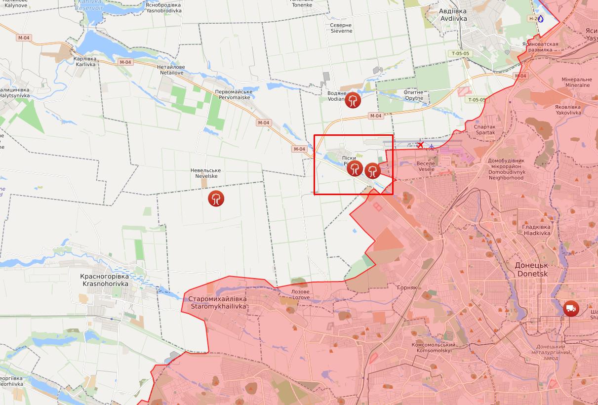 Враг обстрелял позиции ВСУ в районе населенного пункта Пески.