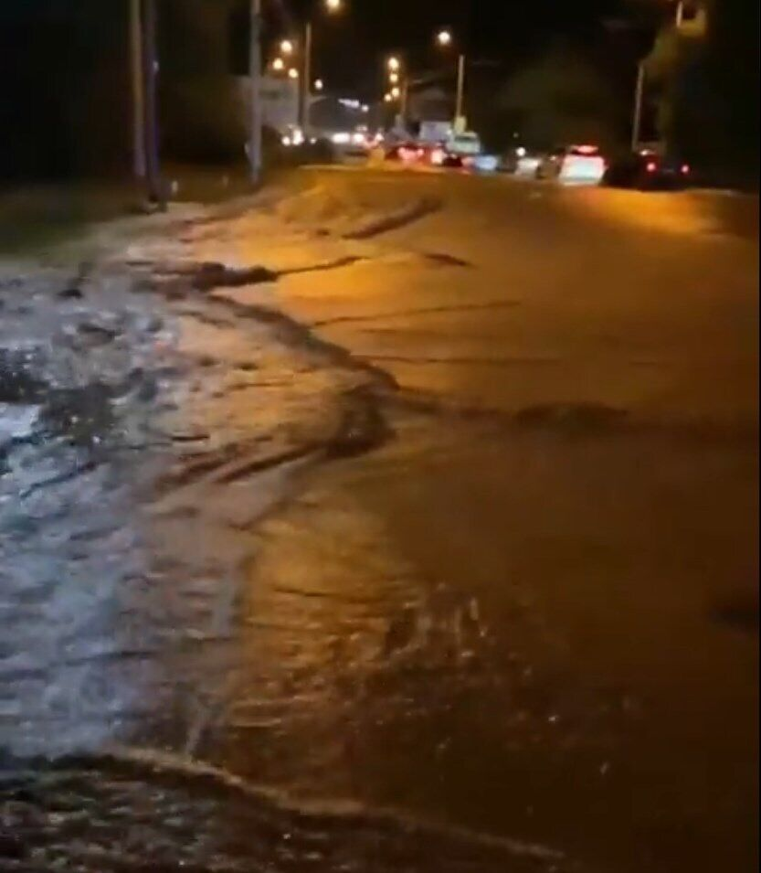 Последствия потопа под Симферополем.