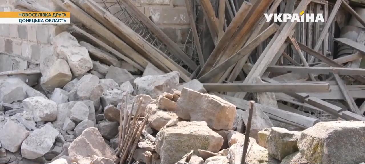 От помещения остались лишь развалины