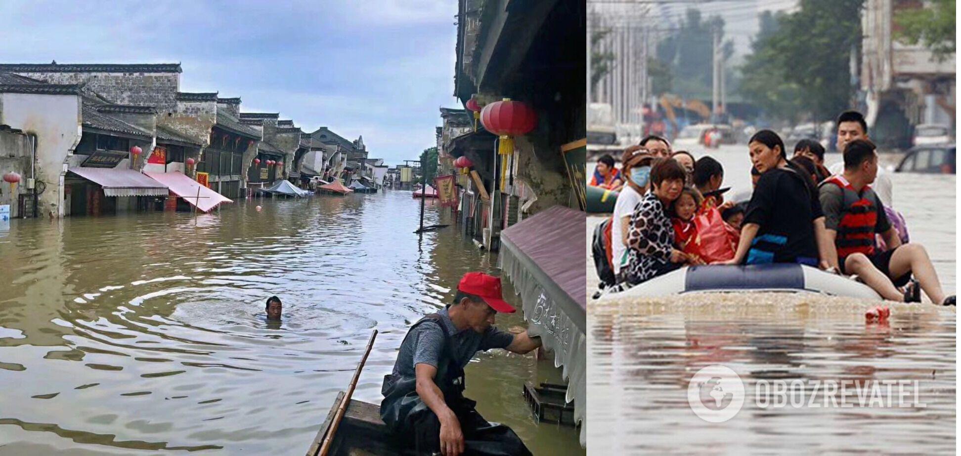 Провінцію Хубей у Китаї накрили потужні зливи
