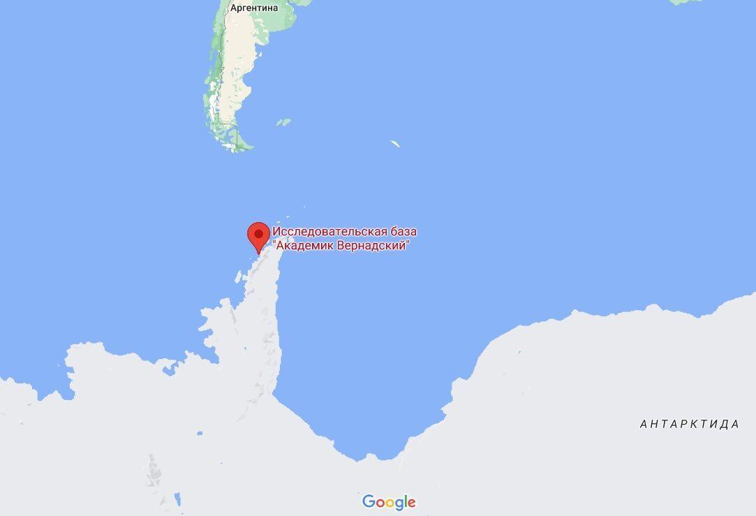 """Станція """"Академік Вернадський"""" в Антарктиді."""