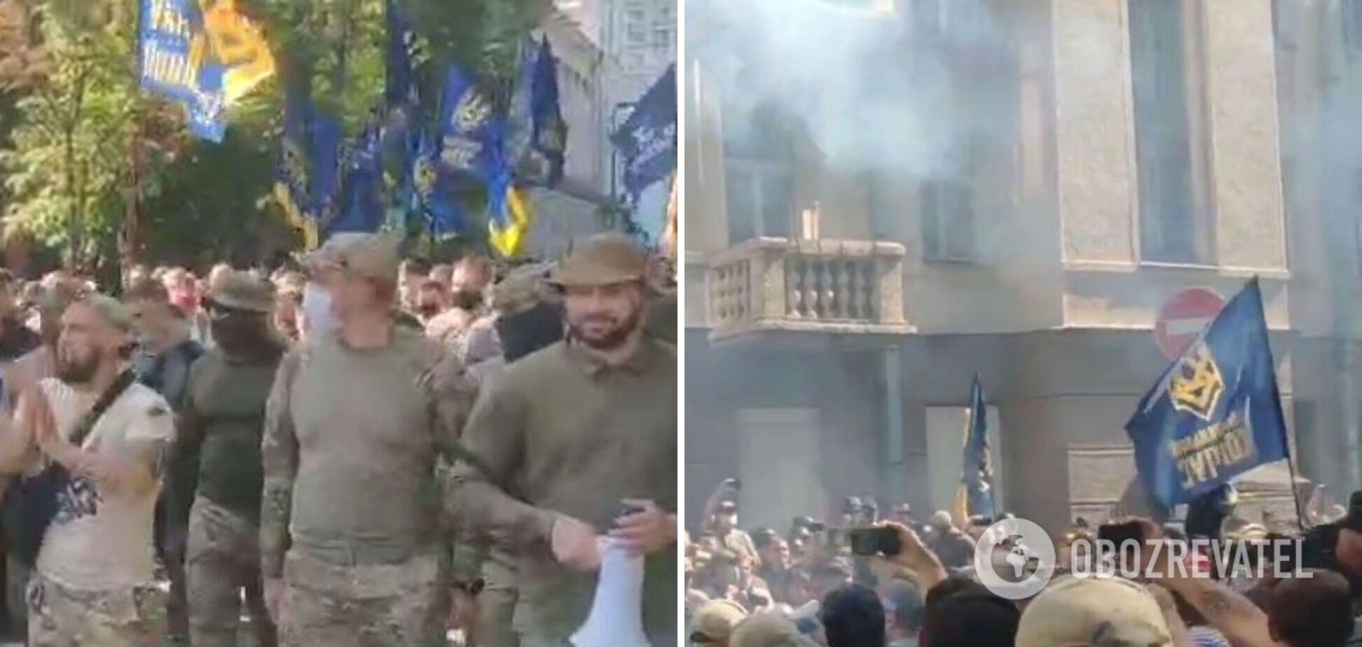 Активисты протестовали возле дома Зеленского