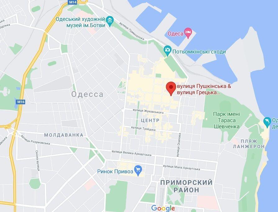 Место, где произошел инцидент.