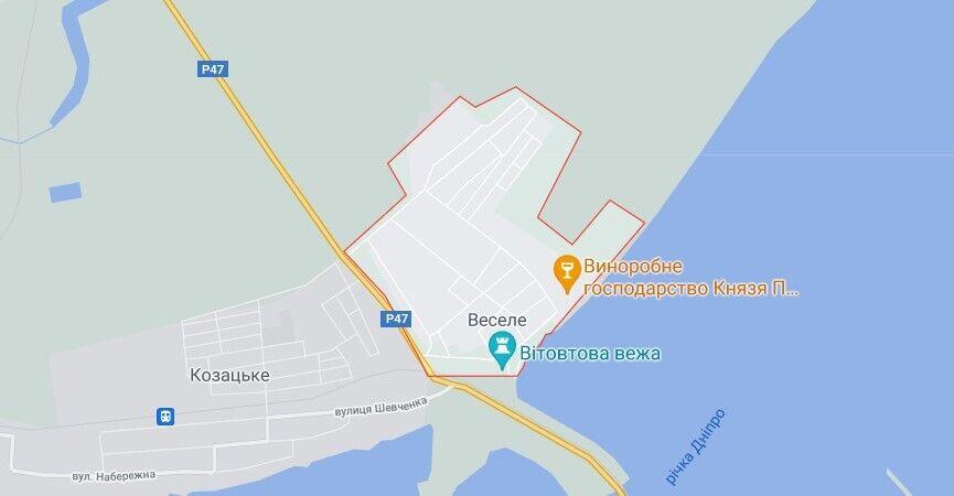 Инцидент произошел в селе Веселое в Бериславском районе на Херсонщине