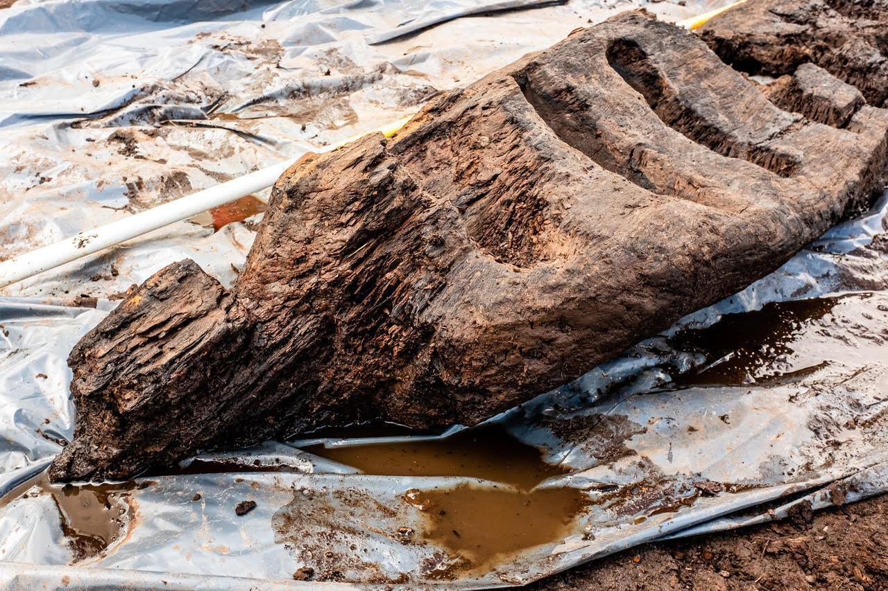 Язичницький дерев'яний ідол знайшли в болоті