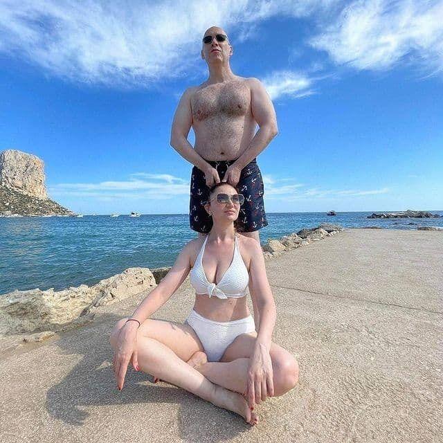 Дмитрий Гордон на отдыхе со своей женой