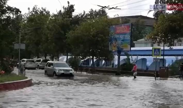 Затопленные улицы .