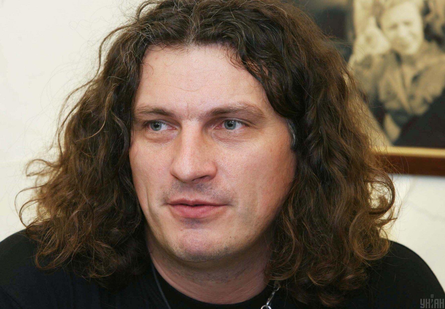 """Андрей Кузьменко на презентации проекта """"Пающие трусы"""" во Львове, 13 марта 2008 года"""