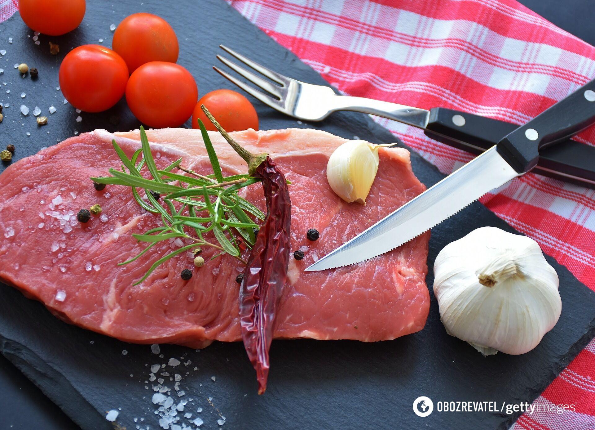 Хороша яловичина завжди має яскраво-червоний колір