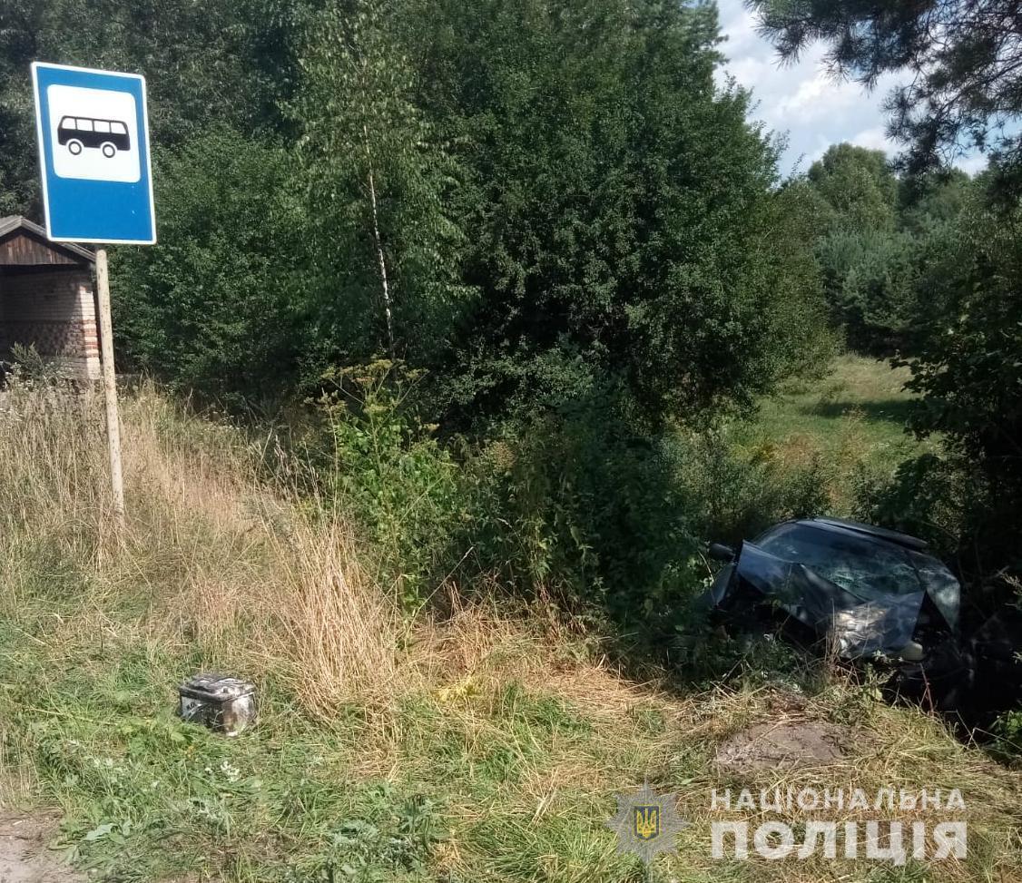 Volkswagen Passat съехал в кювет в селе Селец Червоноградского района на Львовщине.