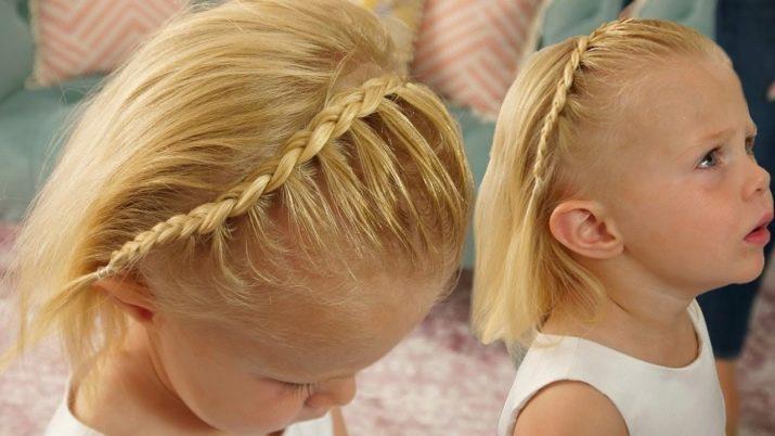 Коса-напіввінок на коротке волосся.