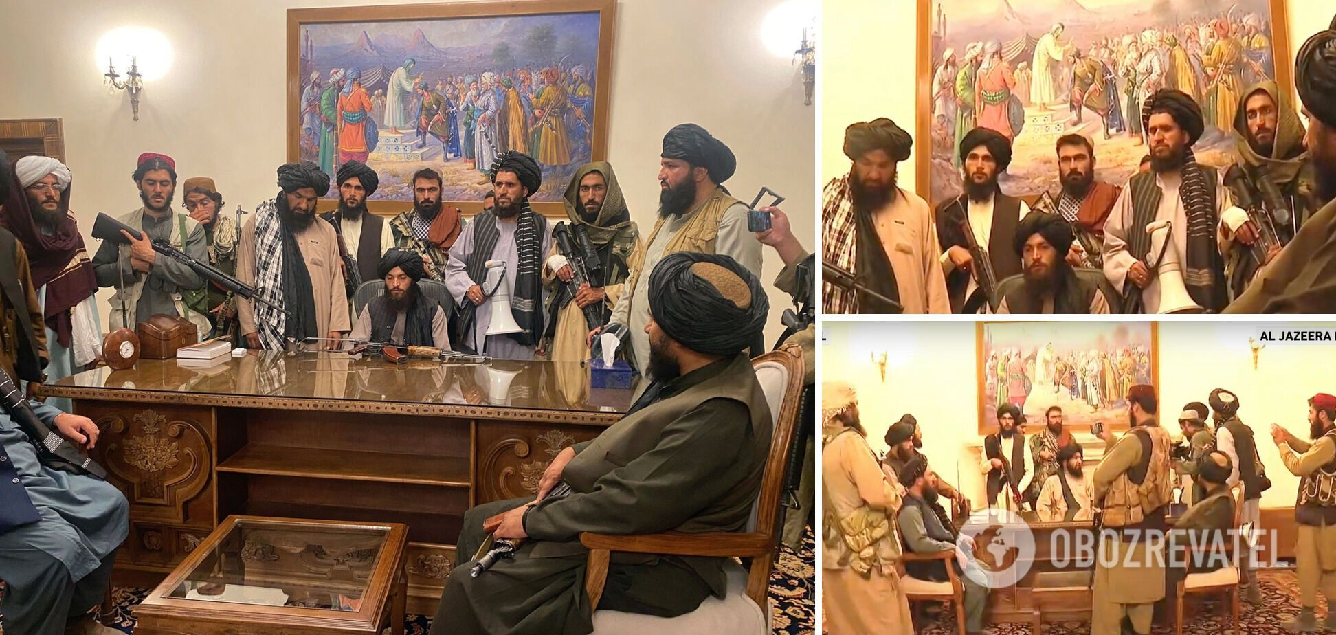 Талибы в президентском дворце