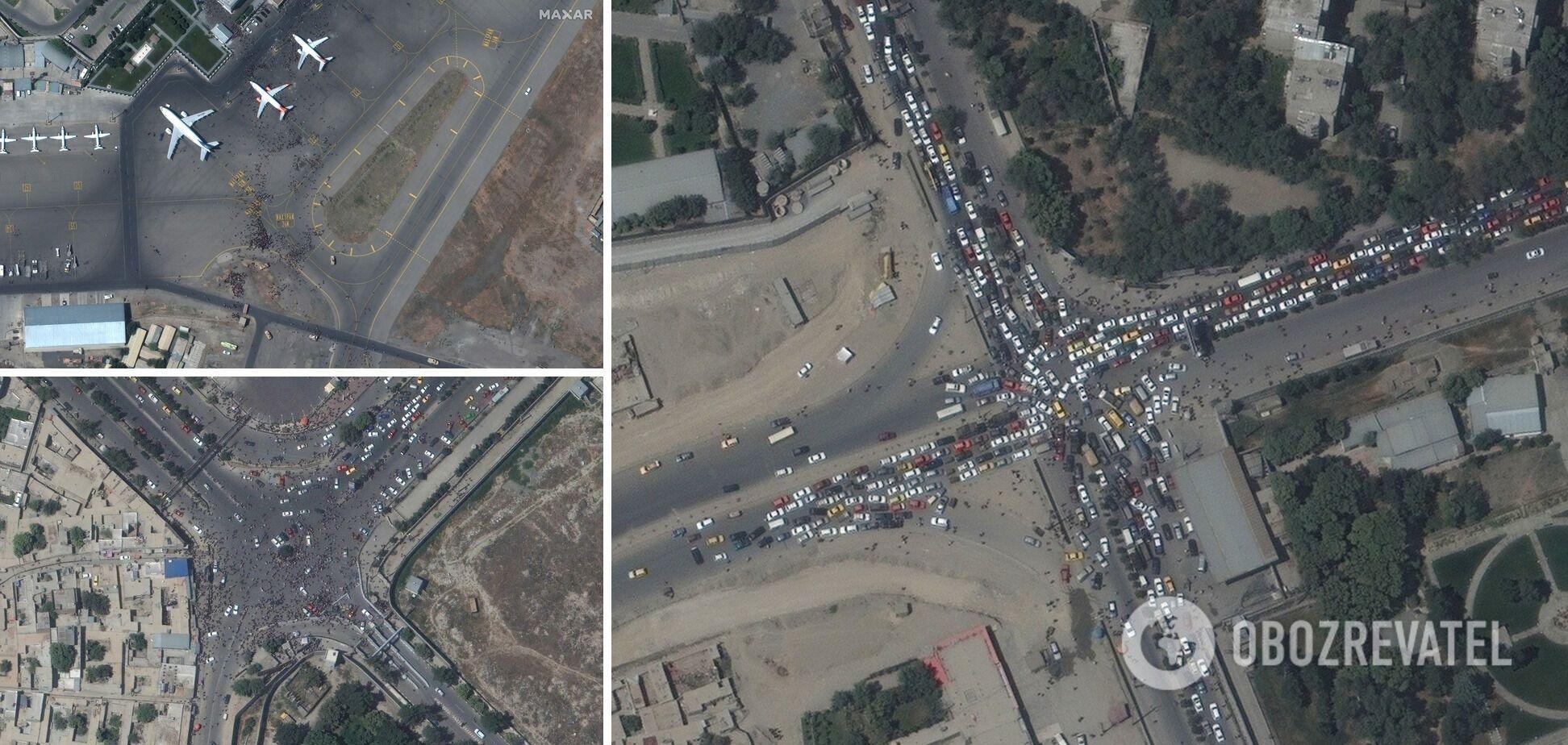 Спутниковые снимки аэропорта Кабула
