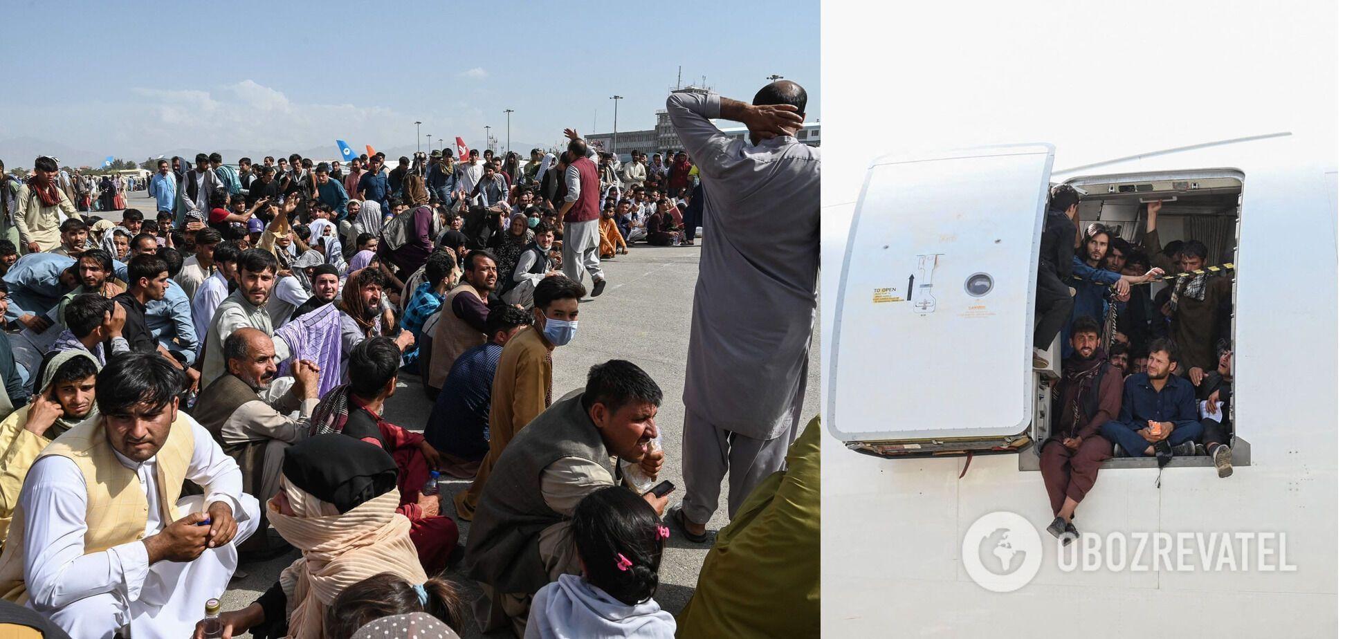 Афганці, які бажають залишити Кабул після захоплення країни талібами