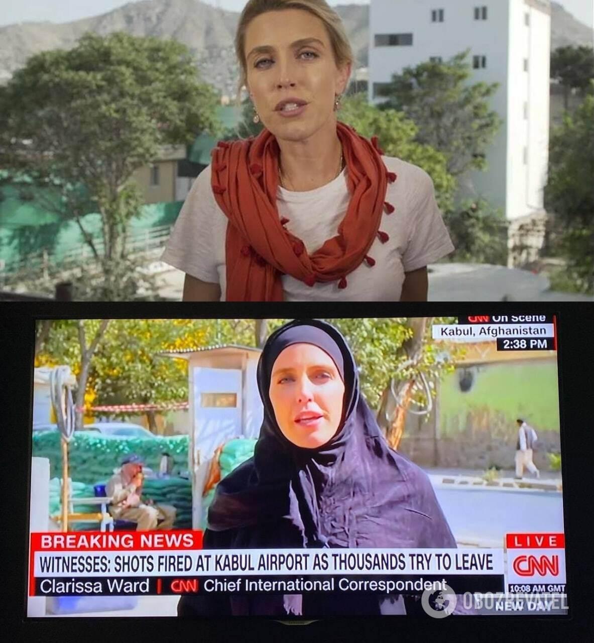 Журналистка CNN выходит в эфир в хиджабе после прихода талибов